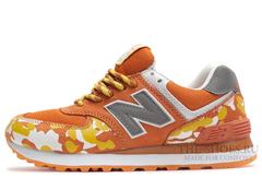 Кроссовки Женские New Balance 574 Orange Camo