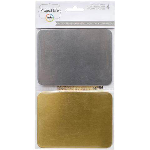 Набор карточек Metal Cards  для Project life - 7,5х10см /4 шт