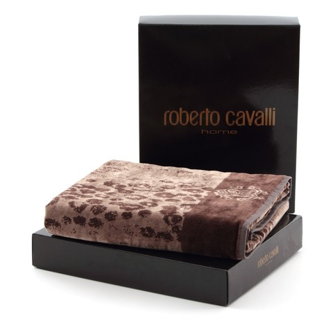 Набор полотенец 2 шт Roberto Cavalli Giaguaro коричневый