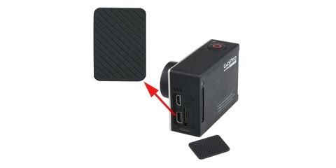 Запасная боковая крышка для GoPro HERO4 установка