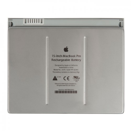 Аккумулятор MacBook Pro 15 A1260 60Wh 10.8V A1175 Early 2006 Early 2008 - 652-0951 661-4600 661-4262 020-4930-A 661-3864 661-4185