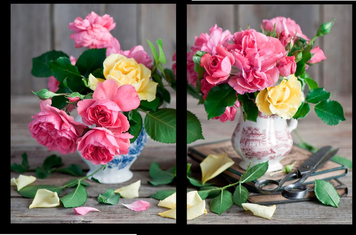 """Цветы Модульная картина """"Розы в вазе"""" М707.png"""