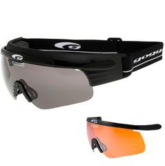 Комплект лыжные очки-маска Goggle Shima+ Black Smoke + Линза Orange