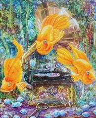 Симфония океана-алмазная картина