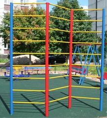 Стенка гимнастическая  уличная 2-секционная (металл) 2,8х2,0м