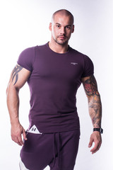 Мужская футболка NB Muscle Back 728 burgundy