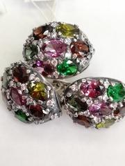 Сабрина (кольцо + серьги из серебра)