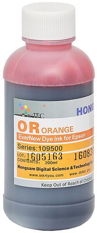 Чернила водные DCTec 7900D orange dye  200мл. Серия 109500