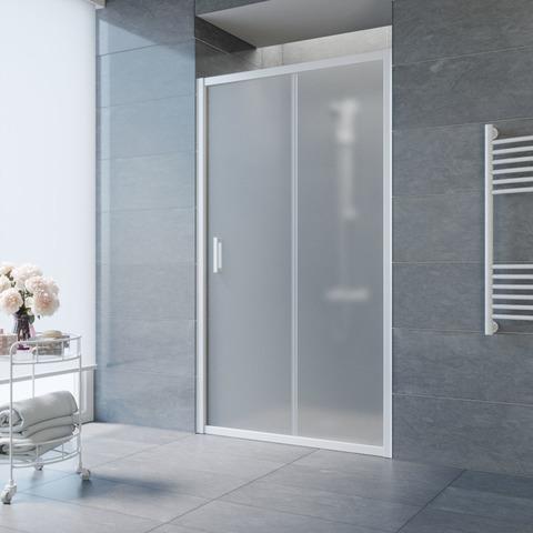 Душевая дверь в нишу Vegas Glass ZP профиль белый, стекло сатин