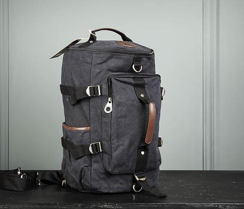 Городская тканевая сумка рюкзак с ремнем на плечо