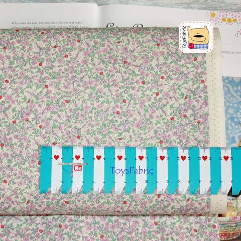 Корейский хлопок 20963 (нежные розы сиреневый) 45х55см