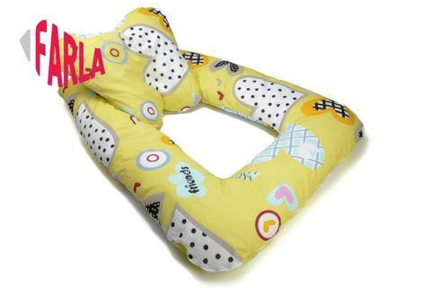 Farla. Подушка позиционер для новорожденного Milo Heart
