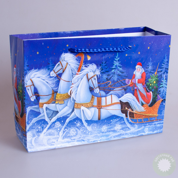 Пакет новогодний подарочный  21х15х7