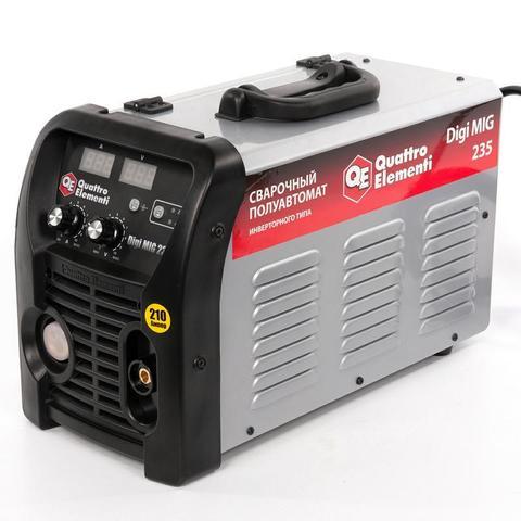 Аппарат полуавтомат. сварки, инвертор QUATTRO ELEMENTI Digi MIG 235 (210 А, ПВ 30%,проволока 0,6 - 1.2 мм,14.4кг,220В,EURO-разъем,дисплей)