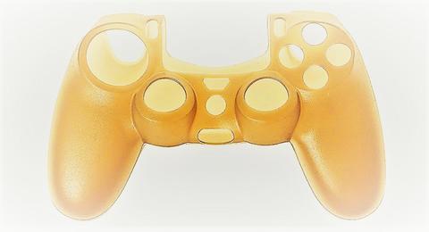 PS4 Чехол для геймпада DualShock 4 (золотой) + накладки