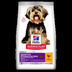 Корм для собак декоративных пород Hill's Science Plan Sensitive Stomach Skin, с деликатным пищеварением, с курицей