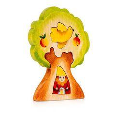 Гном в дереве (деревянный пазл)
