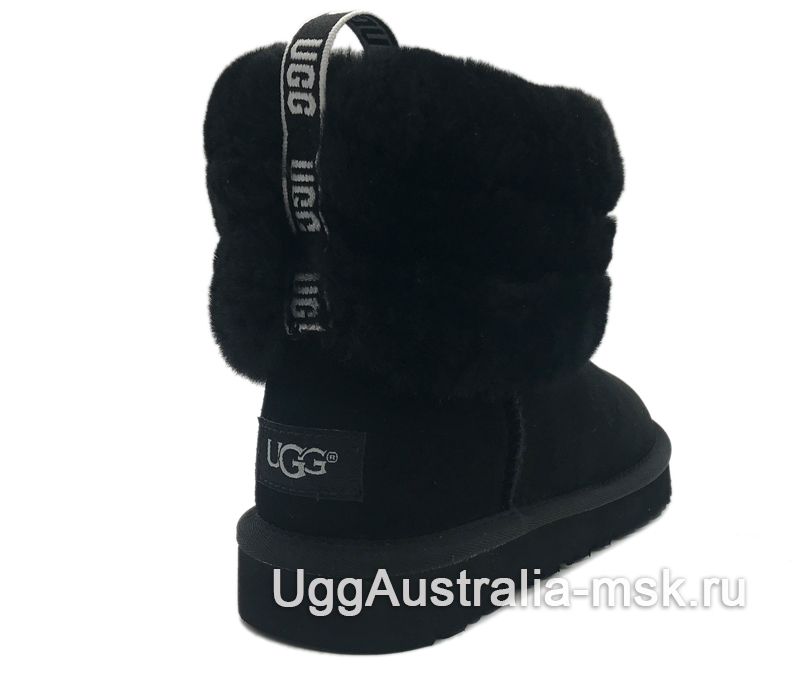 UGG Classic Mini Fluff Quilted Boot Black