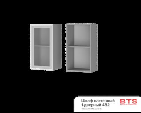 Шкаф настенный 1-дверный со стеклом (400*720*310) 4В2