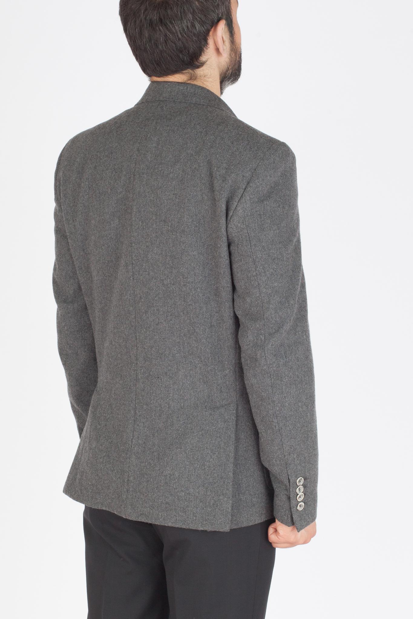 Серый пиджак из 100%-ной шерсти