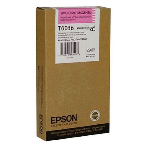 Картридж светло-пурпурный Epson C13T603600 для Stylus Pro 7800/9800/7880/9880 (220 мл)