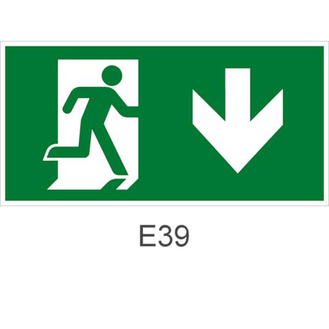 Эвакуационный выход здесь правосторонний – знак безопасности Е39