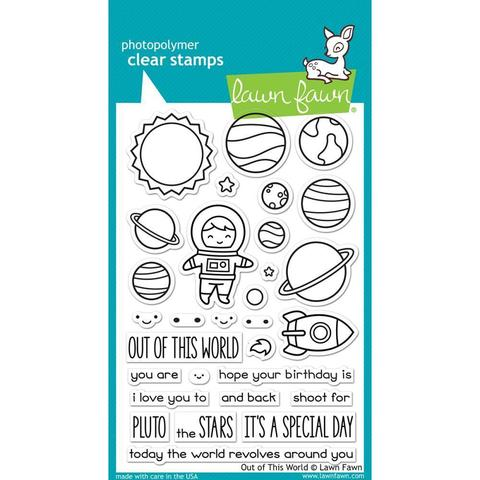 Набор штампов+ координирующие ножи Lawn Fawn Clear Stamps 10х15см - Out Of This World