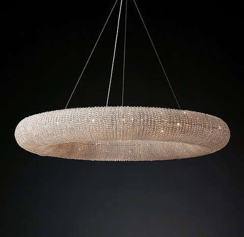 Crystal Halo Chandelier 72