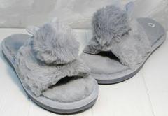 Уютные комнатные тапочки женские Yes Mile A-08 Gray