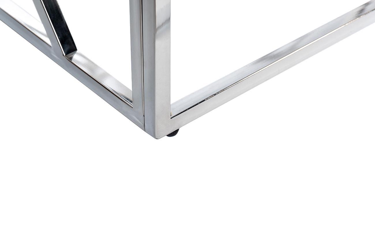 Консоль искусственный белый мрамор/хром (47ED-CST015M) Garda Decor