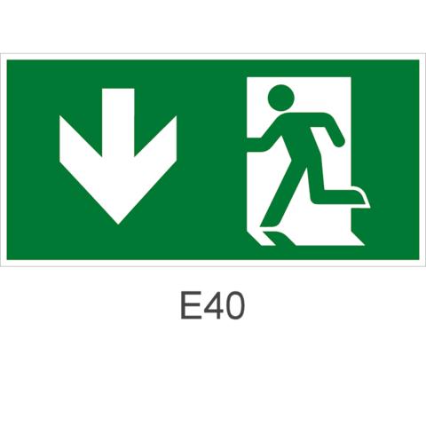 Эвакуационный выход здесь левосторонний – знак безопасности Е40