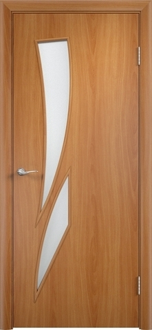 Дверь Верда C-2, цвет миланский орех, остекленная