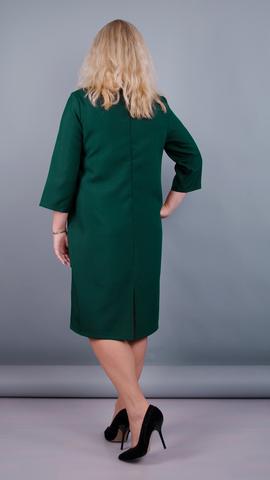 Вирта. Универсальное платье больших размеров. Изумруд.