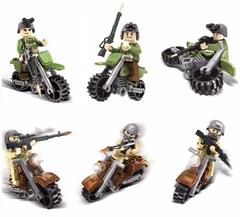 Минифигурки Военных Отряд на мотоциклах серия 113