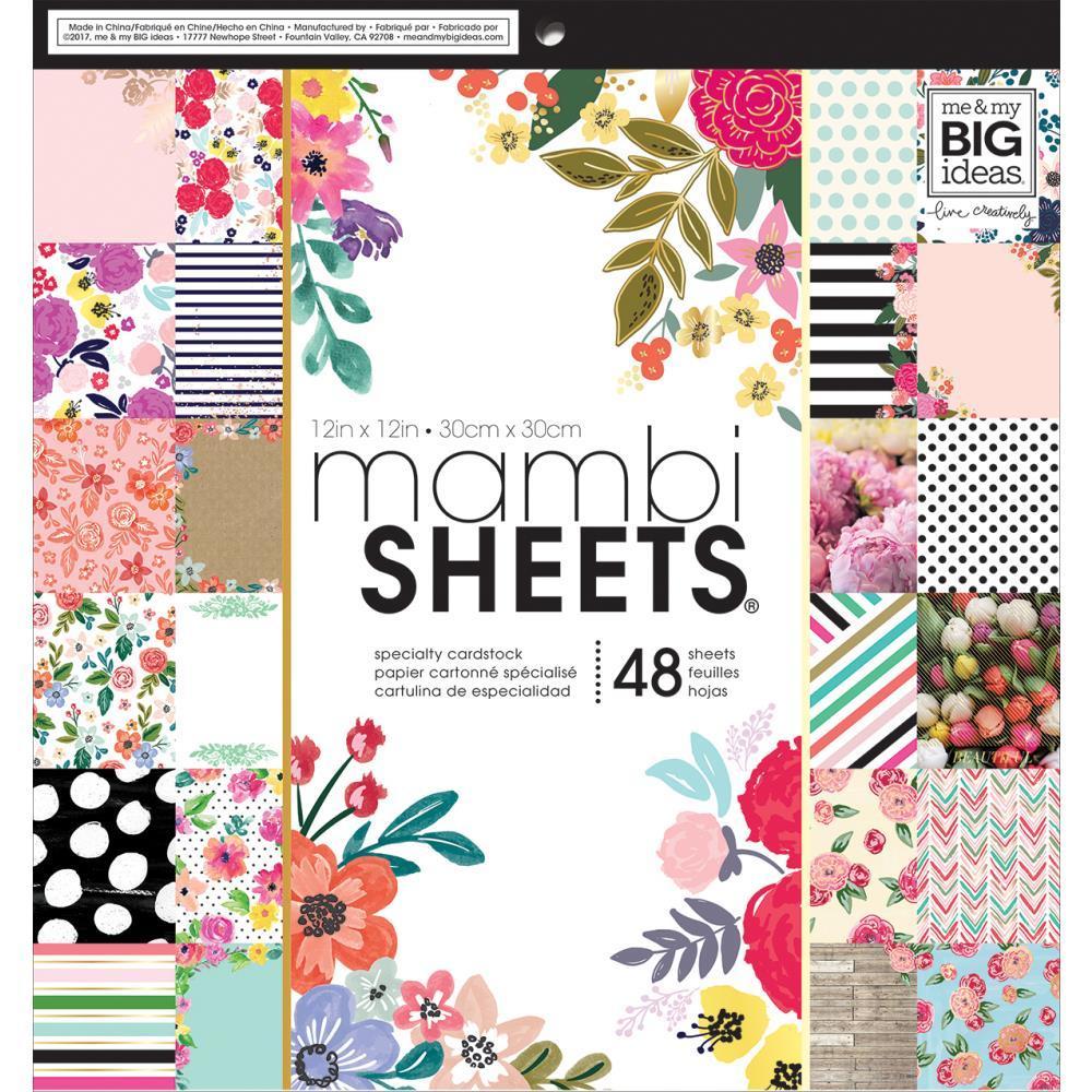 Набор односторонней бумаги с золотым тиснением Me & My Big Ideas Mambi SHEETS- 30х30см-48л