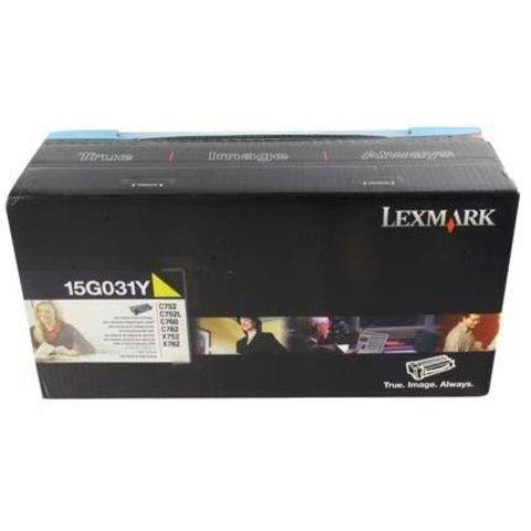 Картридж для принтеров Lexmark C752, C760, C762 желтый (yellow). Ресурс 6000 стр (15G031Y)