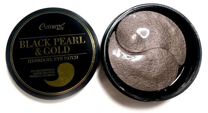 Esthetic House Гидрогел. патчи д/ глаз черный жемчуг/золото  Black Pearl & Gold Hydrogel Eyepatch, 60 шт