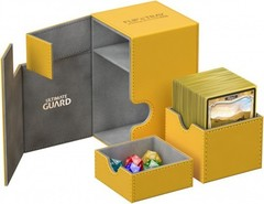 Ultimate Guard - Янтарная кожаная коробочка с отделением для кубиков на 100+ карт