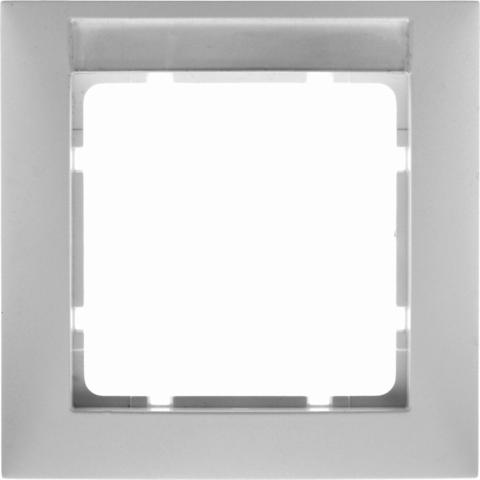 Рамка на 1 пост с полем для надписей. Цвет Полярная белизна. Berker (Беркер). S.1. 10118919