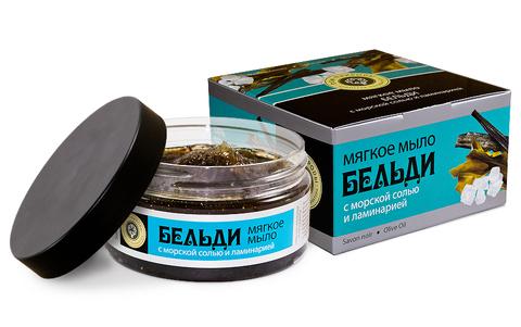 Мягкое мыло БЕЛЬДИ с морской солью и ламинарией