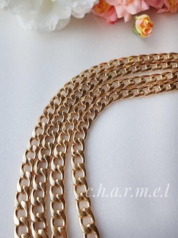 Цепь звено 9*13 мм , длина 120 см, цвет золото
