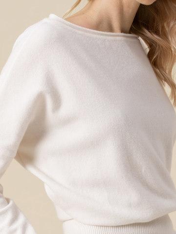 Женский джемпер молочного цвета из 100% кашемира - фото 4