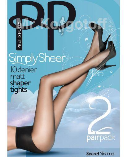 Колготки Pretty Polly Simply Sheer Matt Shaper Tights 10 (2 пары) (EPA2)