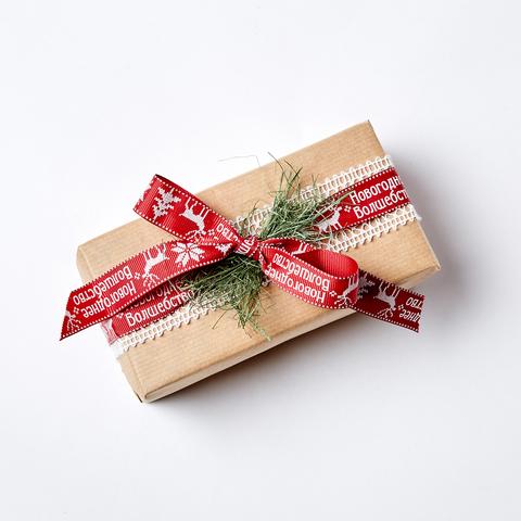 """Новогодняя упаковка подарка """"НОВОГОДНЕЕ ВОЛШЕБСТВО"""""""