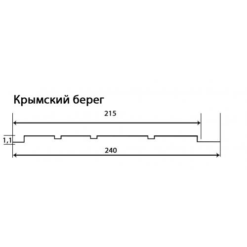 Фасадные панели (Цокольный Сайдинг) Доломит Крымский Берег Песочный
