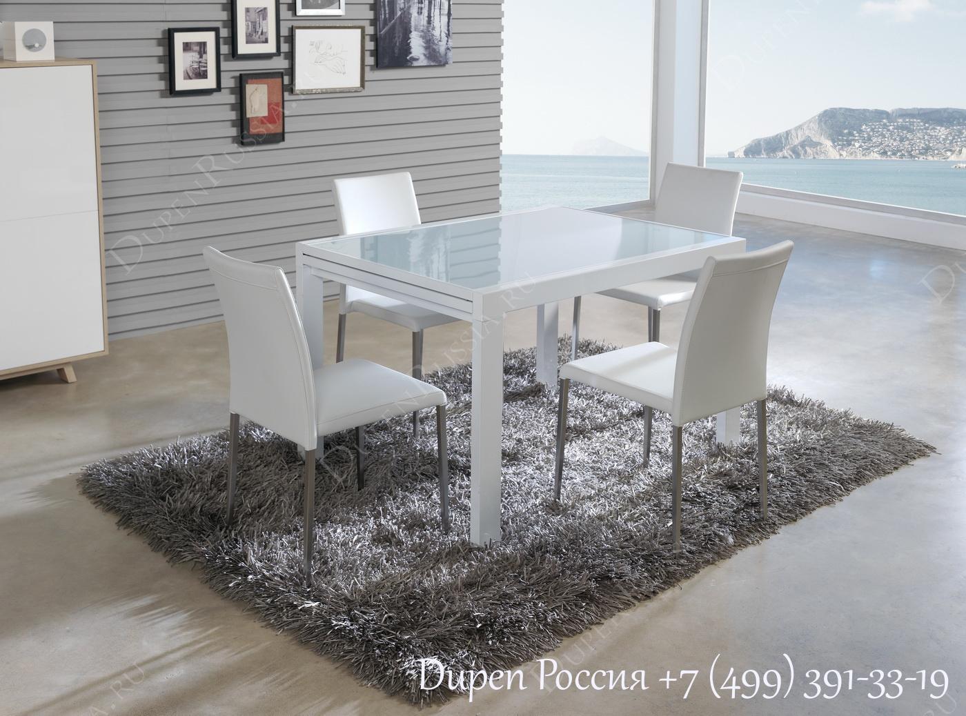 Обеденный стол DUPEN DT-10 Раскладной Белый
