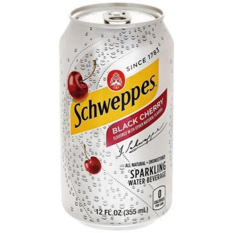 Schweppes Black Cherry sparkling water Швепс вишня 0,355 л