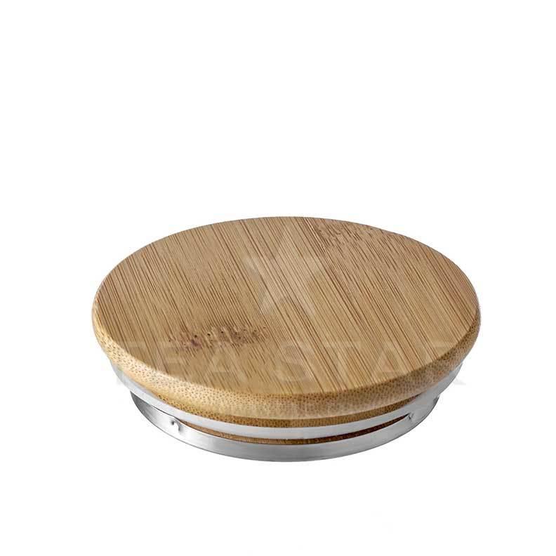 "Для чайников Крышка для заварочного чайника ""Бамбук"", бамбуковая с металлической накладкой krishka_dlia_chaynika_Bamboo-teastar.jpg"