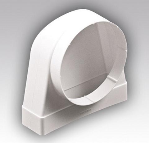 Соединитель угловой 204х60/125 КП под трубу пластиковый