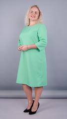 Вирта. Элегантное платье больших размеров. Мята.